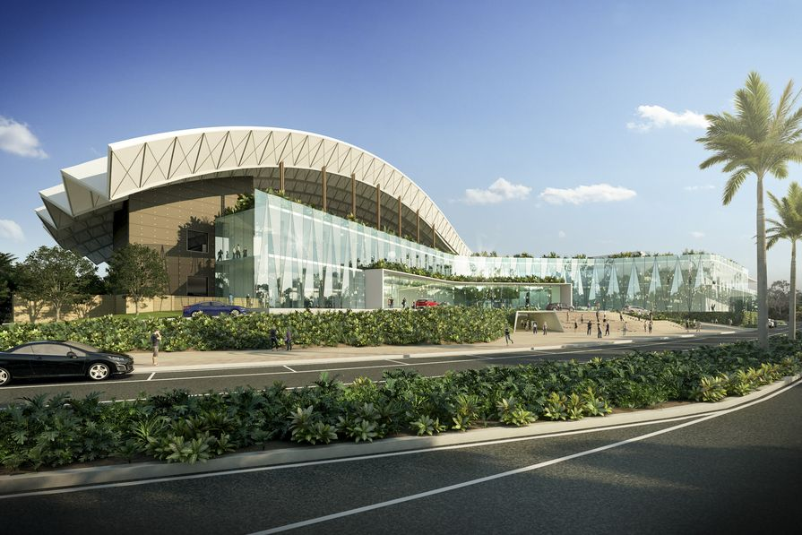 Concept design for the expansion of the Cairn Convention Centre by Cox Architecture.