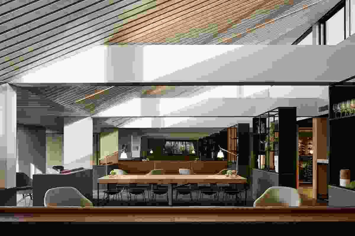 Monash University Academics' Club & Café (Church of Secular Coffee) (St Ali) by Jackson Clements Burrows Architects.