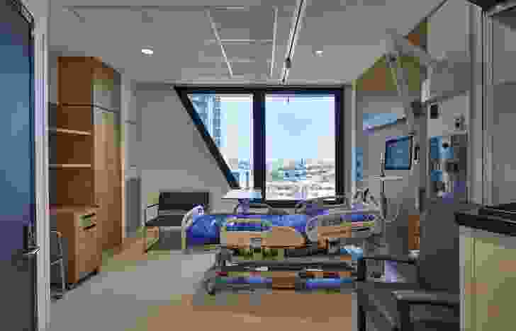 VCCC houses ninety-six inpatient beds and space to accommodate up to 110 outpatients for same-day treatment.