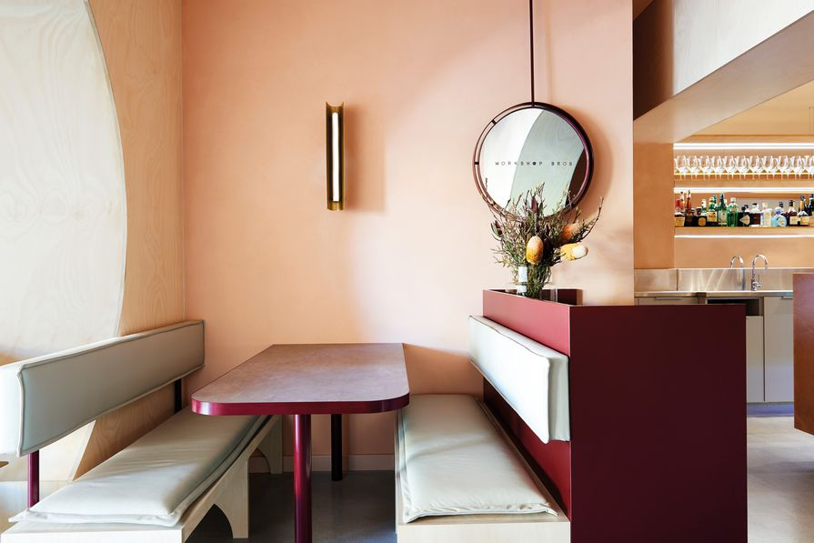 The fitout's vibrant colours were inspired by the clients' Chinese heritage.