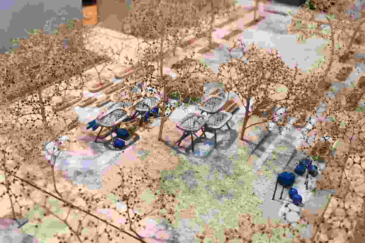 A model of Garraway Park designed by Oculus.