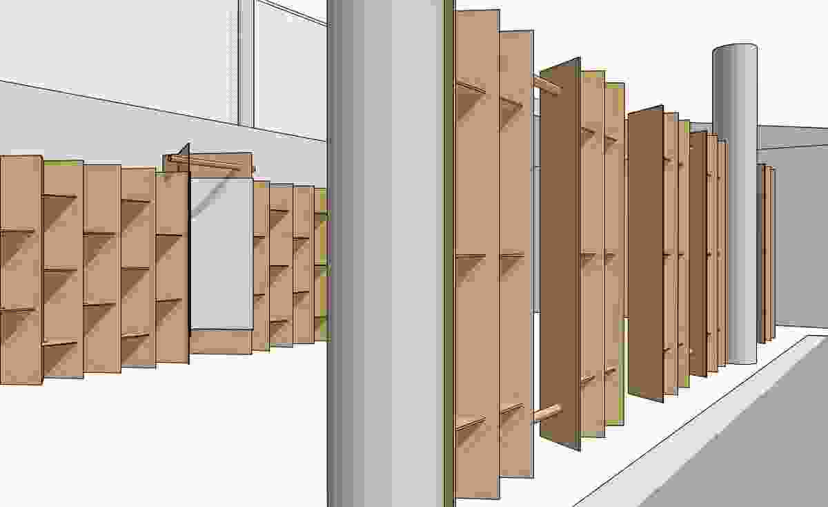 Architects FJMT are designing the exhibition space in folded cardboard.