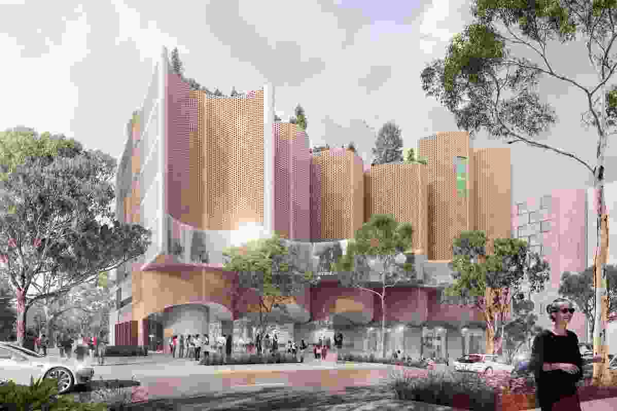 A proposed non-government high school in the Ivanhoe Estate redevelopment by Candalepas Associates.