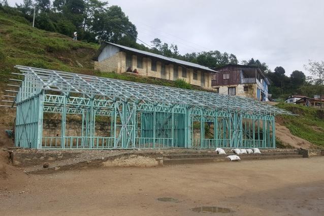 New school building in Garma, Nepal.