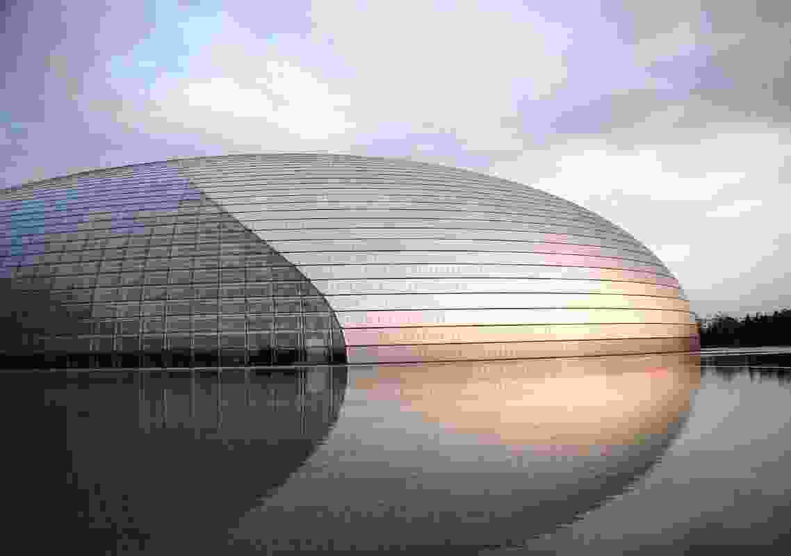 The National Centre for the Performing Arts in Beijing, designed by French architect Paul Andreu, is commonly referred to as The Giant Egg.