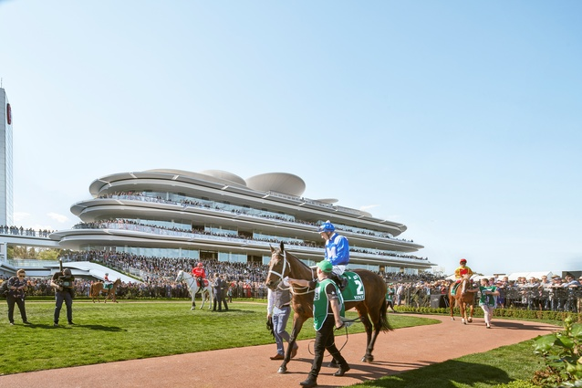Victorian Racing Club's new club stand by Bates Smart.