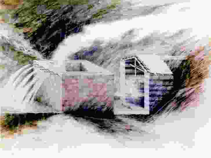 'The Water House' drawing by Peter Wilson.