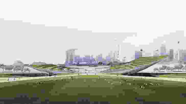 Singapore Founders Memorial proposal by DP Architects.
