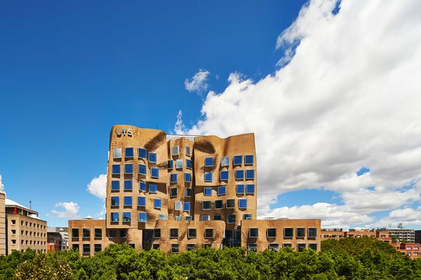 The Dr Chau Chak Wing Building at UTS, designed by Gehry Partners was conceived as a cluster of treehouses.