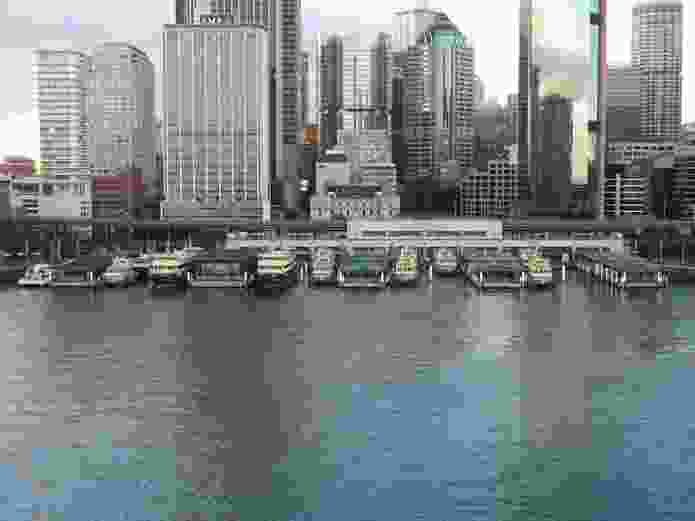 The existing ferry wharves at Circular Quay.