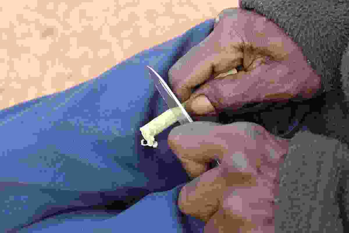 Yawuru Man Carving Yilyi.