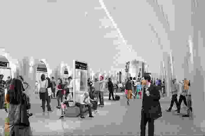 The proposed platform for CBD South station to be designed by Hassell, Weston Williamson and Rogers Stirk Harbour and Partners.