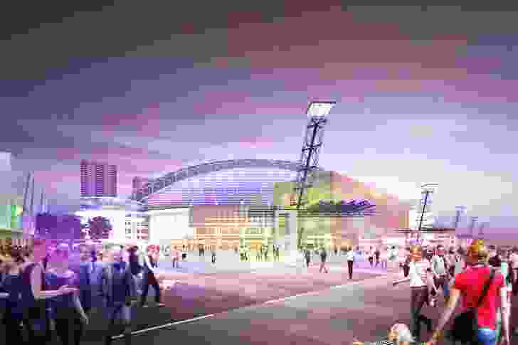 A concept design for ANZ Stadium by Sydney Olympic Park Authority (SOPA) with assistance from Ruker Urban Design.