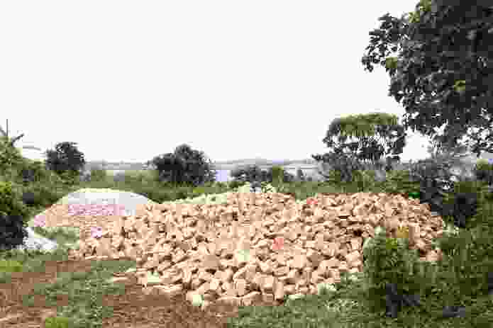 The construction site of Buvi Lodge, Entebbe, Uganda.