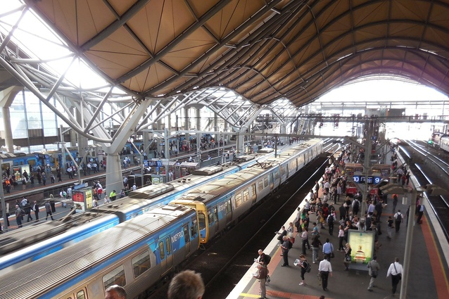 Southern Cross railway station in Melbourne.