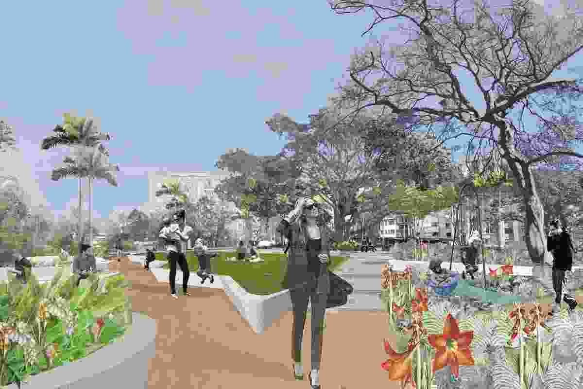 Proposed renewal of Fitzroy Gardens and Lawrence Hargrave Reserve.