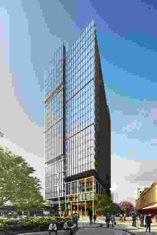 A proposed office tower in Adelaide designed by Bates Smart.